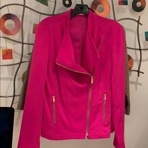 Calvin Klein pink silk jacket